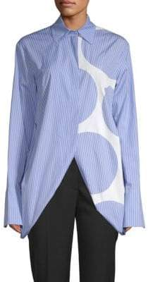 Stella McCartney Printed Cotton Button-Down Shirt