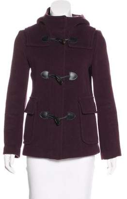 Burberry Wool Hooded Coat