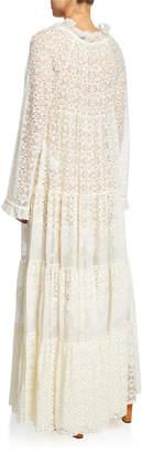 Stella McCartney Long-Sleeve Boho Lace Maxi Dress