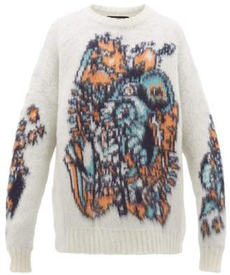 Y/Project Oversized Knitted Sweater - Mens - White