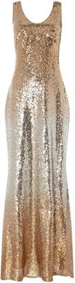 Marina Embellished V neck gown