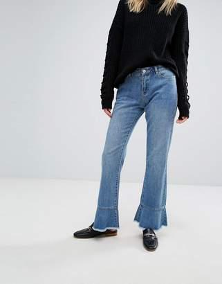 Vero Moda Ruffle Hem Jeans