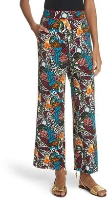 Veronica Beard Eira Print Wide Leg Pants