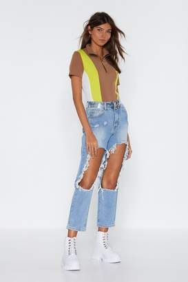Nasty Gal Rough 'N Tumble Rip Mom Jeans