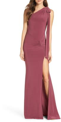 Katie May One-Shoulder Gown