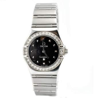 Omega Constellation 1465.51.00 My Choice Diamond Bezel Black Women's Watch