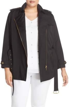 MICHAEL Michael Kors Short Zip Trench Coat
