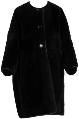 Marni Reversible Shearling & Leather Button Coat