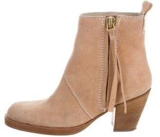 Acne Studios Suede Round-Toe Ankle Boots