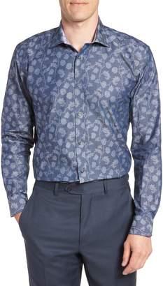 Ted Baker Place Trim Fit Floral Dress Shirt