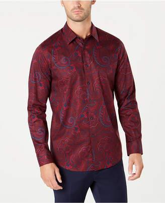 Tasso Elba Men Textured Paisley Shirt