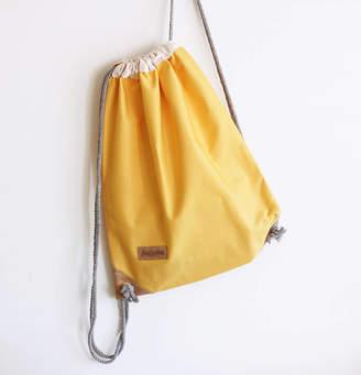 Juream Box Summer Yellow Drawstring Bag