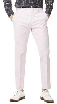 Todd Snyder White Label Fine Corded Cotton Stripe Sutton Suit Trouser in Pink