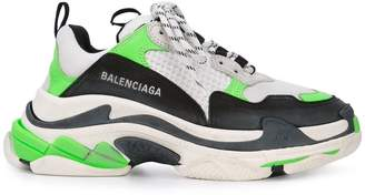 Balenciaga green triple s sneakers