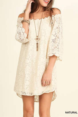 Umgee USA Off Shoulder Lace-Dress