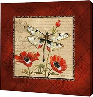 """Gorham PrintArt GW-POD-11-GOR-447-12x12 """"Dragonfly & Poppies"""" by Gregory Gallery Wrapped Giclee Canvas Art Print"""