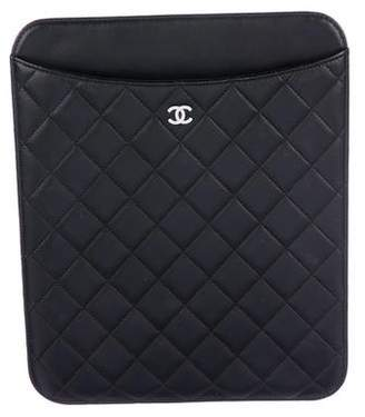 Chanel CC Quilted iPad Case