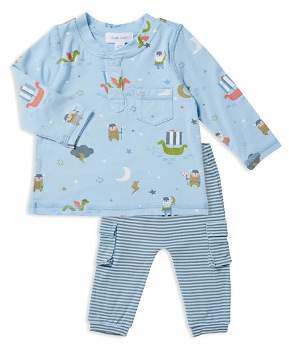 Angel Dear Boys' Viking Henley Top & Stripe Pants Set - Baby