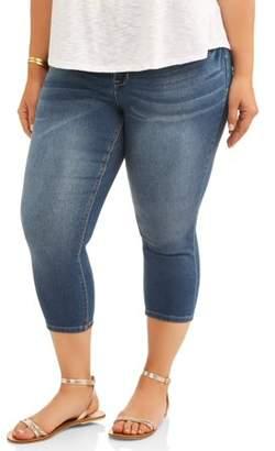 A3 Denim Women's Plus Double Button Crop Skinny Jeans