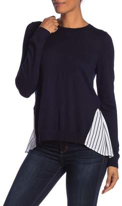Susina Pleated Twofer Sweater (Regular & Petite)