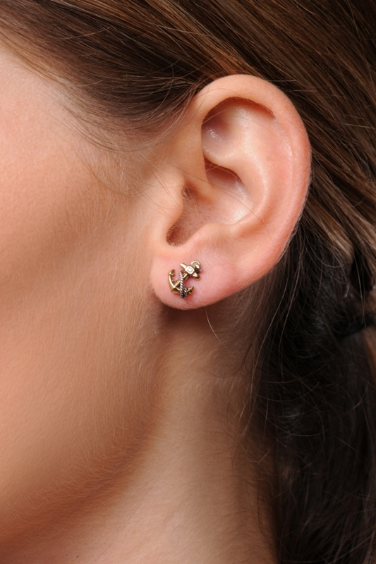 Juicy Couture Anchor Stud Earrings