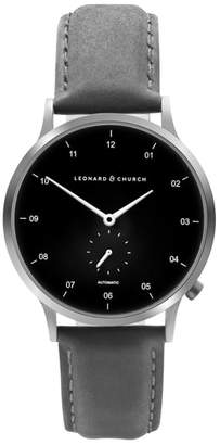 Church's LEONARD AND Leonard & Sullivan Automatic Suede Strap Watch, 39mm