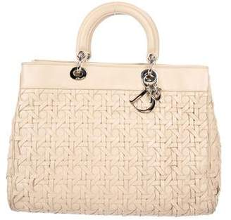Christian Dior Large Woven Leather Lady Bag