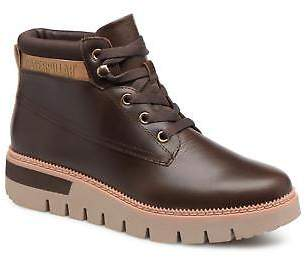 Caterpillar Women's Pastime Lace-up Ankle Boots in Brown