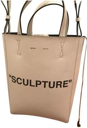 Off-White Off White White Leather Handbag