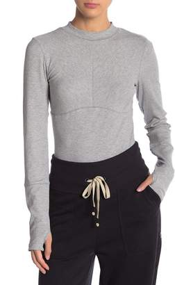 Free People Laura Long Sleeve Rib Knit Tee