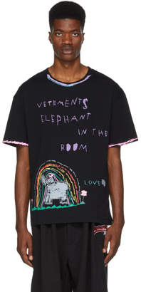 Vetements Black Elephant Luis T-Shirt