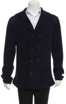 Burberry Double Breasted Ribbed Cardigan