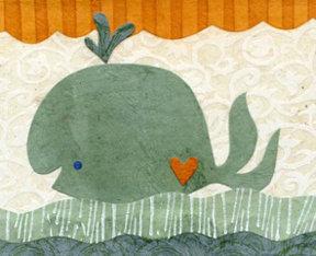 Kate Endle Whale Festive Print