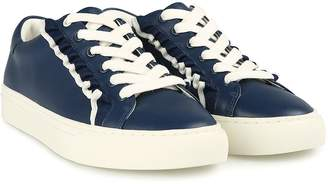 Tory Burch Tory Sport Ruffle-tim Leather Sneakers