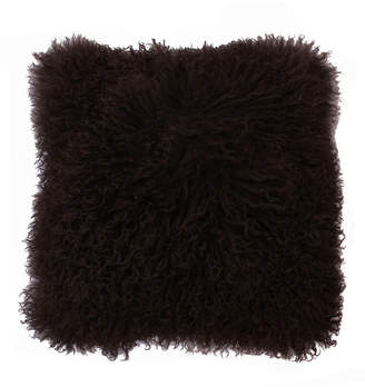 """Thro Mongolian Lamb Pillow, 16"""" x 16"""""""