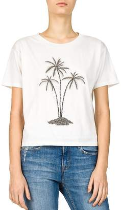 The Kooples Embroidered Palm Tree Tee
