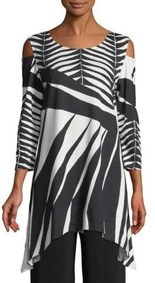 Caroline Rose Gone Wild Graphic Tunic, Plus Size