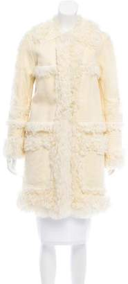 Chloé Shearling Knee-Length Coat