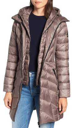 Bernardo Glossy Quilted Walker Coat