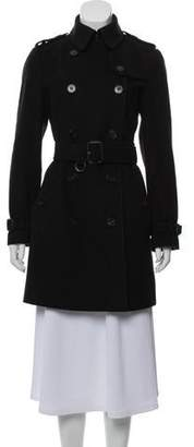 Burberry Double-Breasted Virgin Wool & Cashmere-Blend Coat