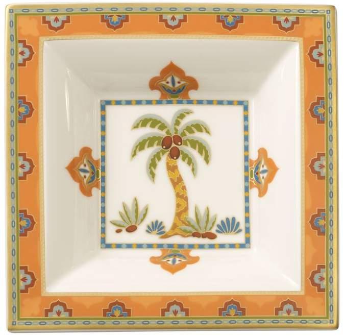 Samarkand Mandarin Square Bowl (14cm x 14cm)