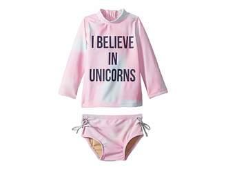 shade critters I Believe in Unicorns Rashguard Set (Infant/Toddler)