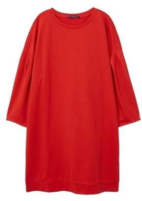 Violeta BY MANGO Pleats sweatshirt dress