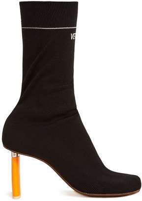 Lighter-heel sock ankle boots
