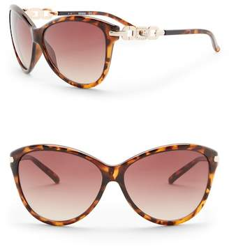 GUESS 60mm Cat Eye Sunglasses