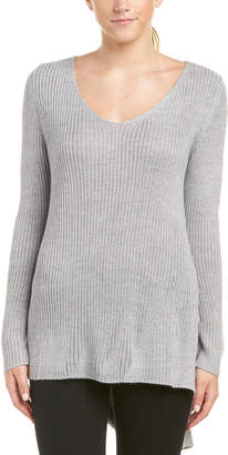 MinkPink Wool-Blend Ribbed Sweater
