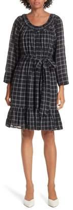 Rebecca Taylor Metallic Check Dress