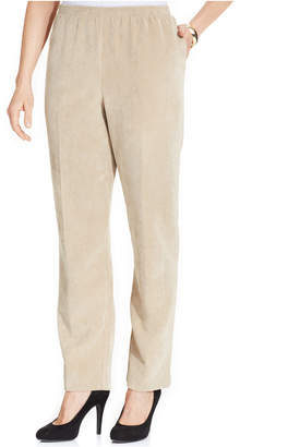 Alfred Dunner Petite Corduroy Straight-Leg Pants