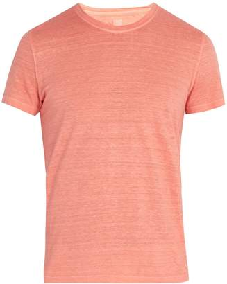 120% Lino 120 LINO Crew-neck linen-jersey T-shirt