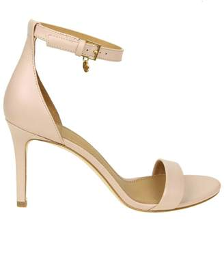Tory Burch Sandal Ellie In Leather Pink Cipria